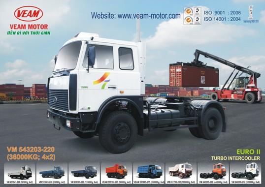 Xe đầu kéo Veam 36 tấn VM 543203