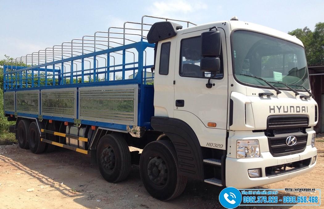 Xe tải 4 Chân 18 Tấn Hyundai HD320