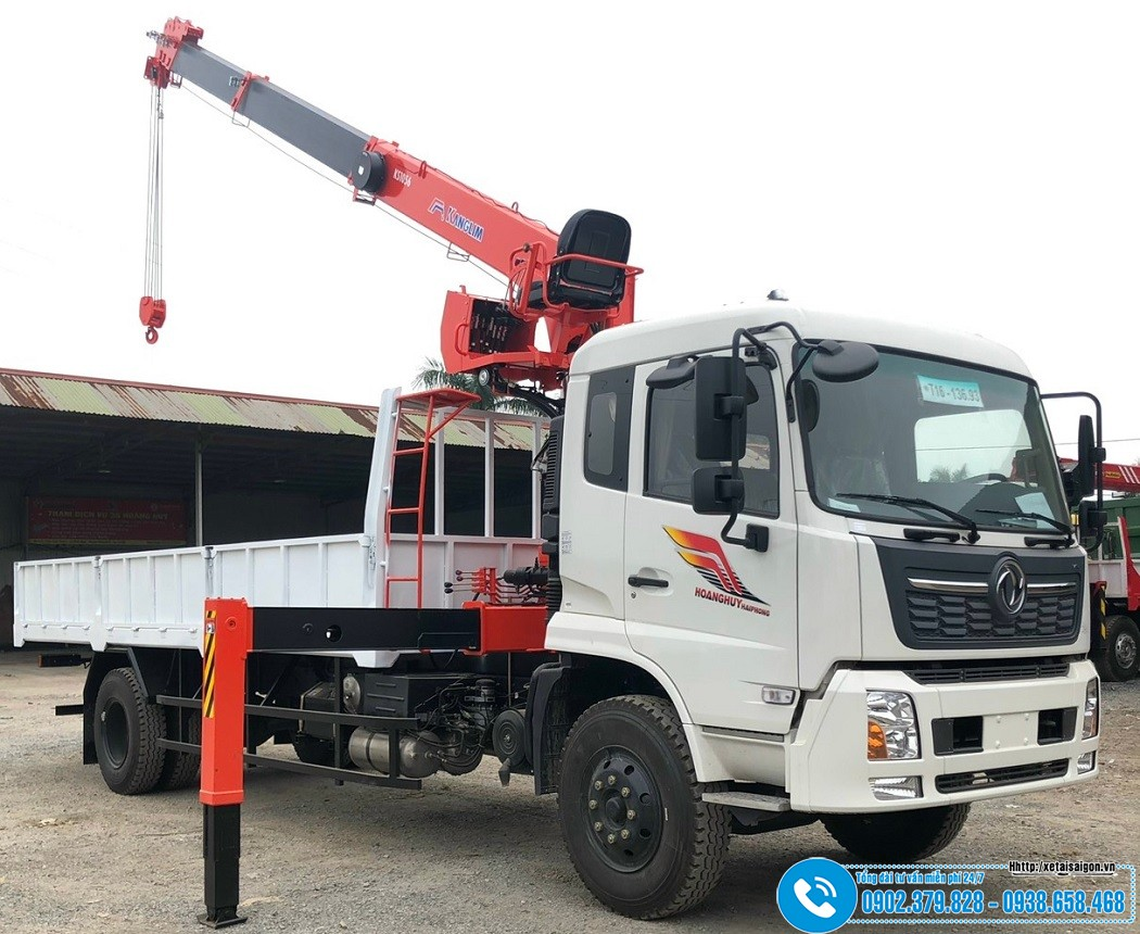 Xe tải DongFeng 8 Tấn B180 Gắn Cẩu 5 Tấn KangLim KS1056T