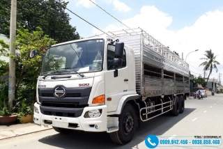 Xe tải Hino 15 Tấn FL8JW7A - Thùng Chở Heo 2 Tầng