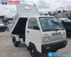 Xe ben 500kG Suzuki – Thùng Inox 1 Khối