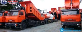 Xe ben Kamaz 3 Chân 14 tấn - 65115 - Thùng Vát 10 Khối