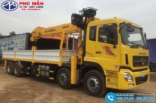 Xe tải Dongfeng 4 Chân Gắn Cẩu 12 Tấn Soosan SCS1015LS