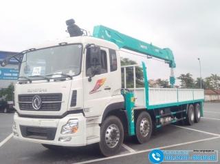 Xe tải Dongfeng 4 Chân ISL315 - Gắn Cẩu KHTC 12 Tấn HLC-12015S