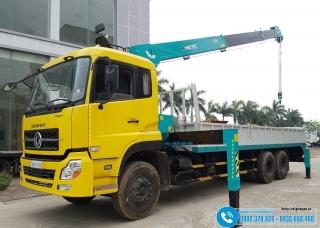 Xe tải Dongfeng 3 Chân 15 Tấn - Gắn Cẩu 7 Tấn HKTC - HLC-7016L
