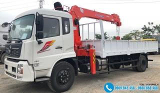 Xe tải Dongfeng B180 Gắn Cẩu KangLim KS1056 - 5 Tấn - 6 Khúc