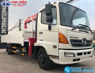 Xe tải Hino 6.4 Tấn Gắn Cẩu Unic 3 Tấn 4 Khúc