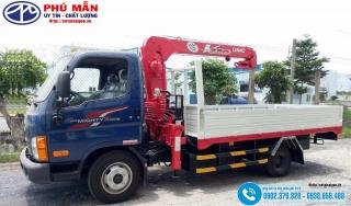 Xe tải Hyundai N250SL - Gắn Cẩu 2 tấn Unic UR-V230