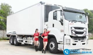 Xe tải Isuzu Giga 4 Chân - Thùng Đông Lạnh