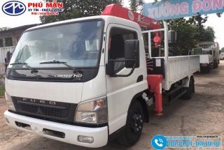 Xe tải Mitsubishi Fuso 4.5 tấn Gắn Cẩu Unic 3 Tấn 4 Khúc